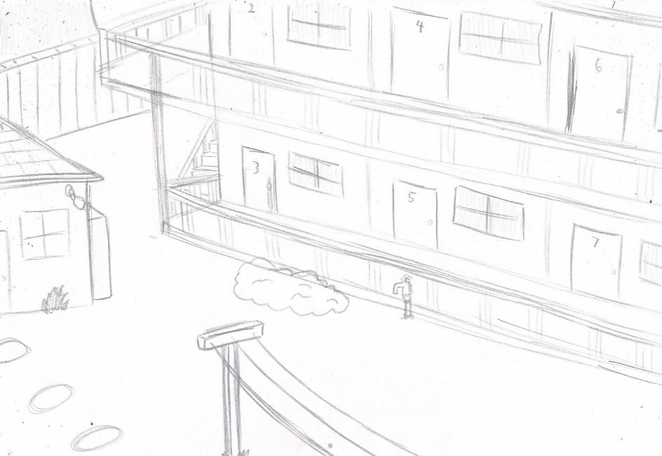 Apartment block by KingDarkCatastrophe