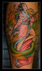 Geisha Tattoo by AmberlyStorm