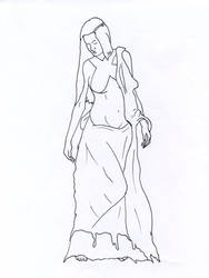 woman line art by AmberlyStorm