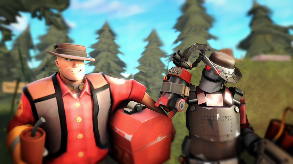 (SFM) The Hiker and Robo-Hiker by MaxMartian