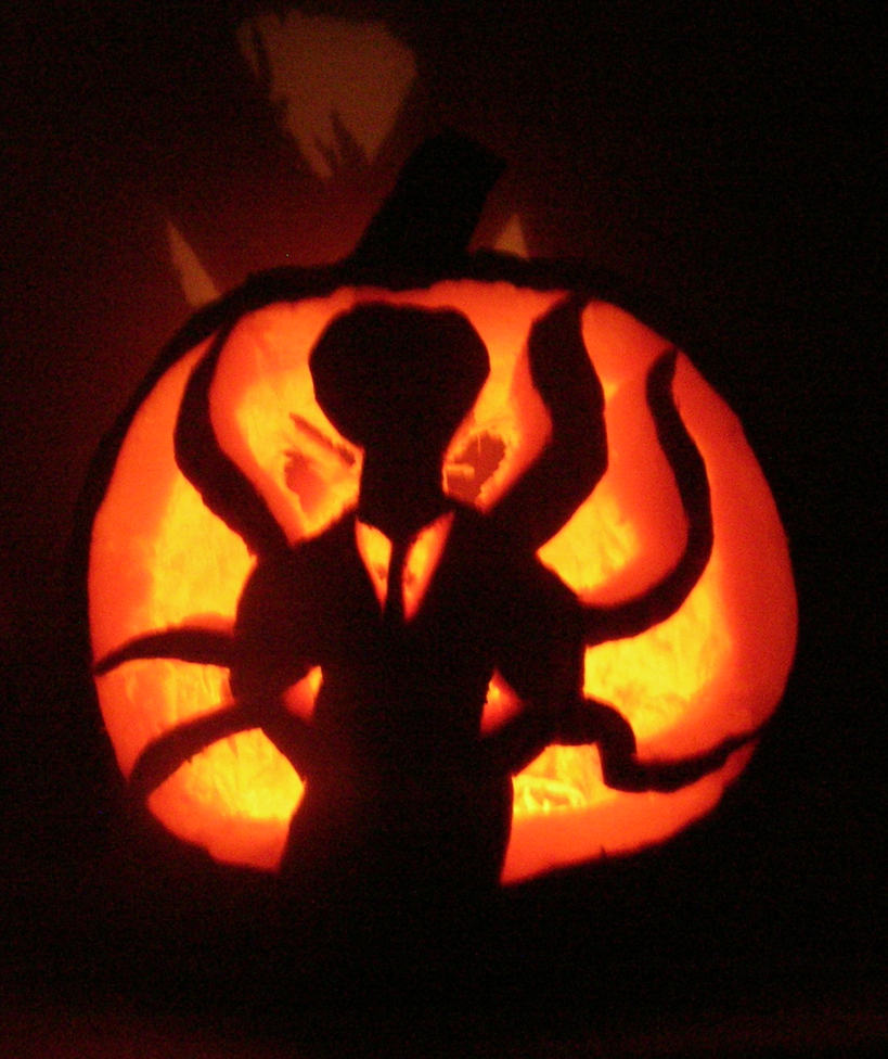 Slenderman pumpkin by drake ryu on deviantart