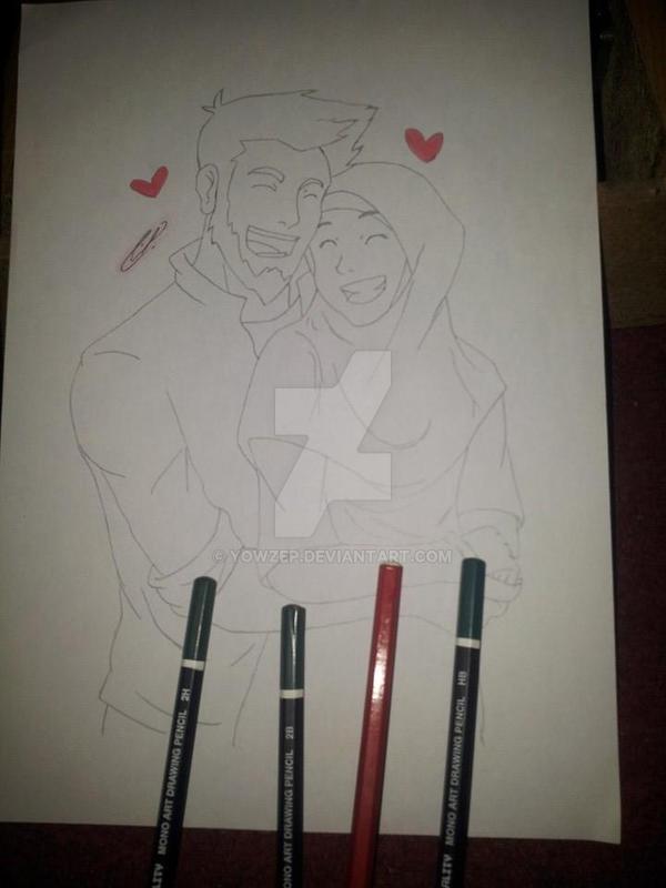 Muslim Couple Manga by YowZeP