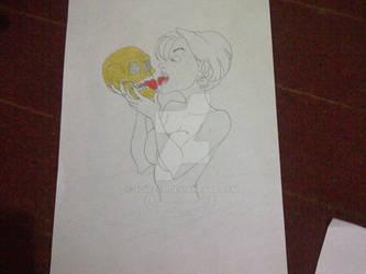 Golden Skull and the mermaid