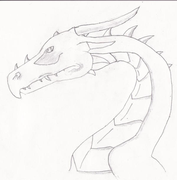 how to draw a dragon head side view