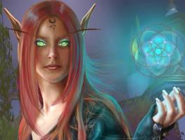 Blood Elf of Warcraft by fan-art-club