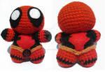 Deadpool chibi amigurumi! by ChillyBlackDwagon