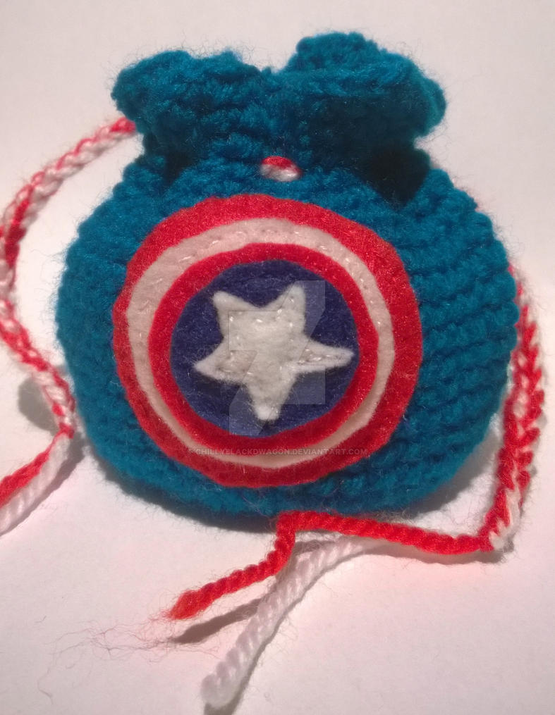 Captain America Dice Bag by ChillyBlackDwagon