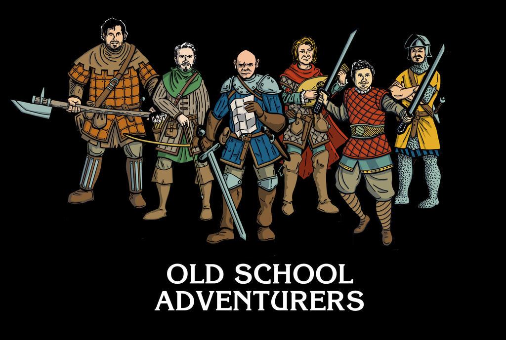 Old School Adventurers by StuartRobertson