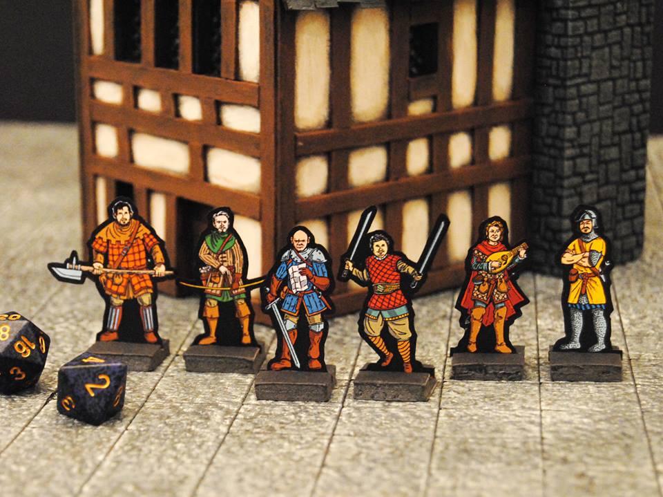 Adventurer Paper Miniatures by StuartRobertson
