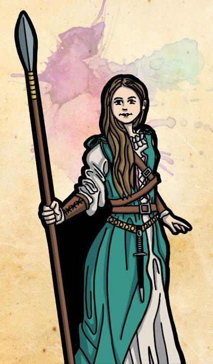 Lady Adventurer Paper Mini Preview by StuartRobertson