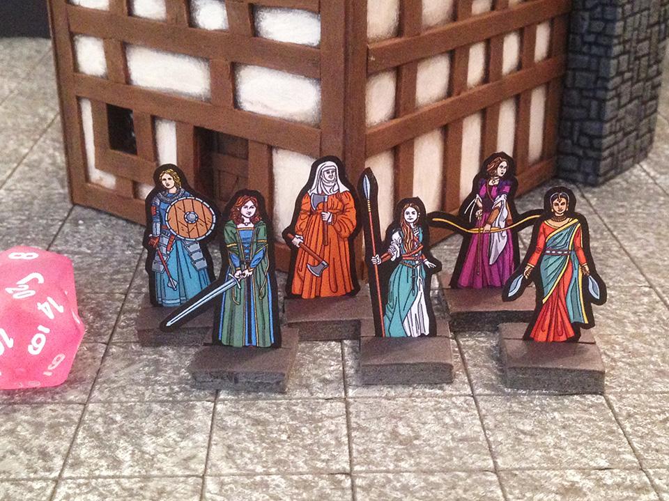 Lady Adventurers Paper Miniatures by StuartRobertson
