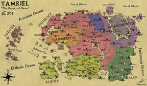 Geopolitical map of Tamriel in 4E201 (English)