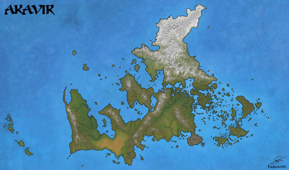 Natural map of Akavir