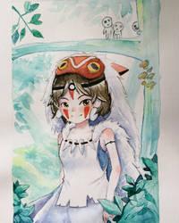 Mononoke Hime by Gingerko
