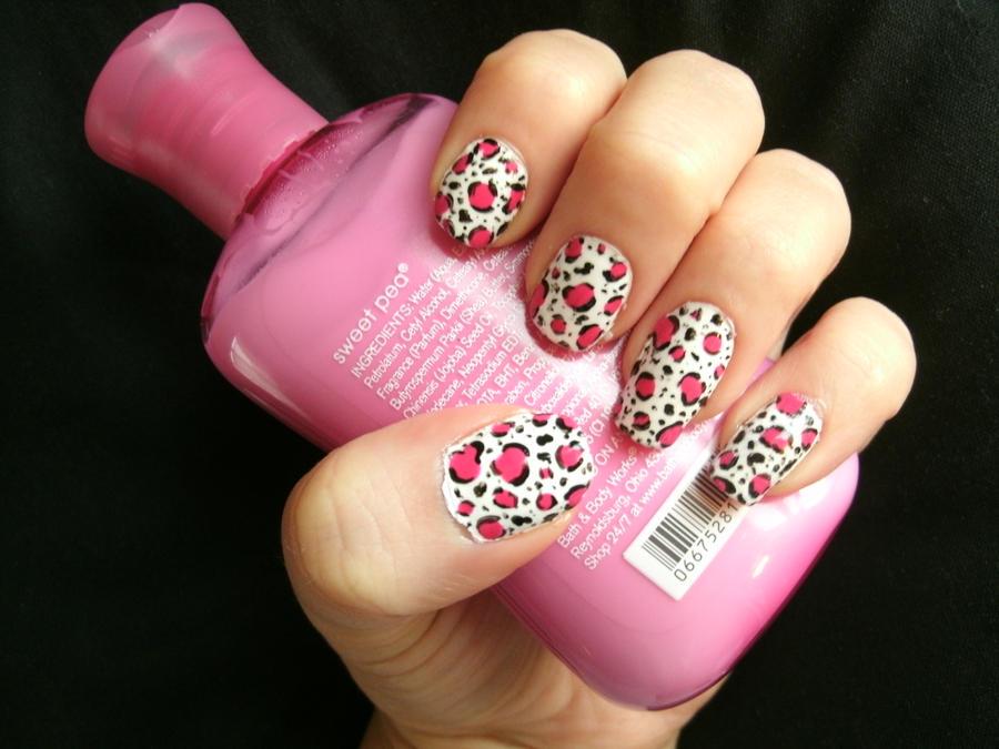 Images Of Animal Print Nails Pink Spacehero