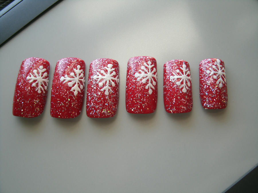 Snowflake Nail Art By Animalluver1985 On Deviantart