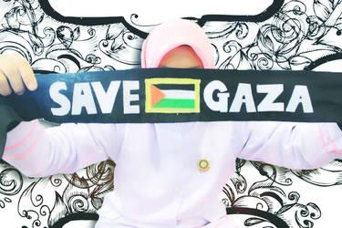 Save Gaza. by AfrinaRiRi