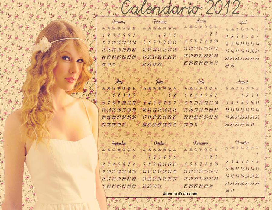 Taylor Swift 2012 Calendar Taylor Swift 2012 by