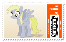 Derpy Mail REAL stamp preview by purpletinker