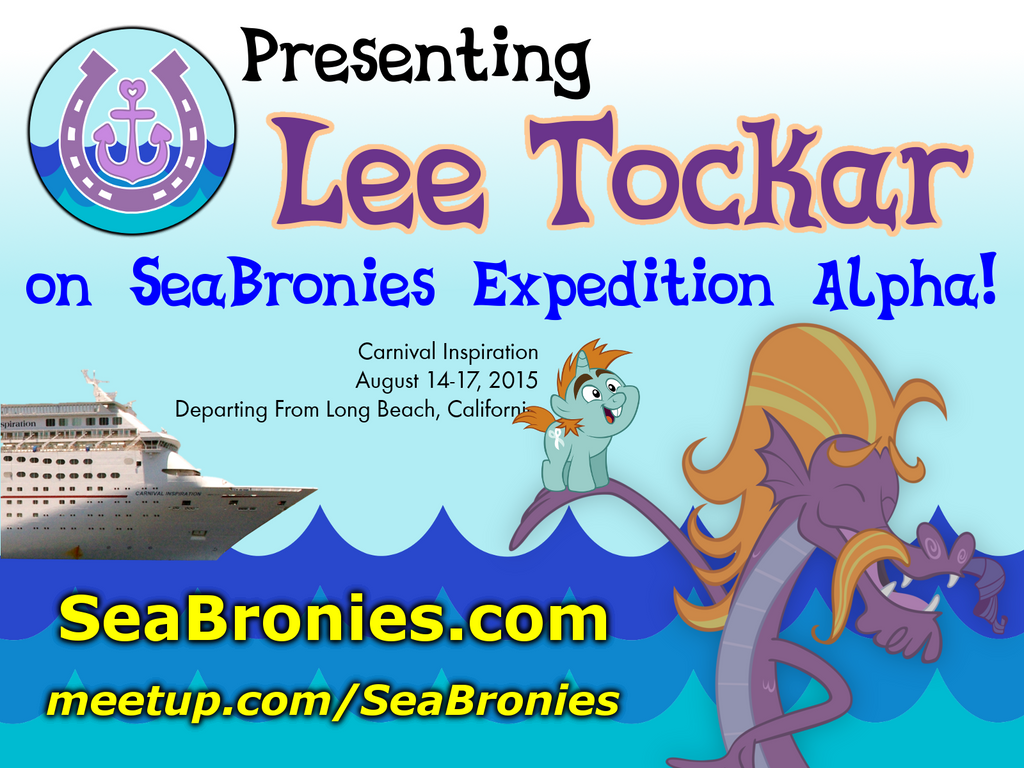 SeaBronies promo graphic - Lee Tockar for Expediti by purpletinker
