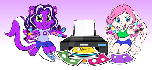Tinker Skunk and Smurgen Bunny Printing!