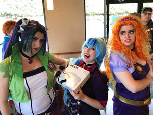 The Dazzlings in Taco Bell