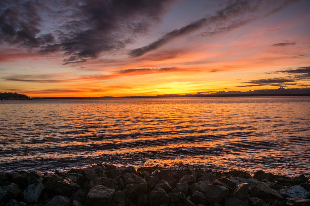 Sunset in Seattle by SiNg0d