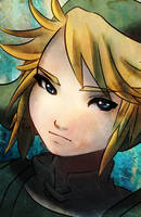 Zelda- Link Headshot by DrunkPugs