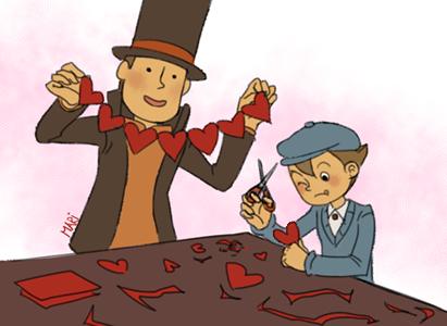 Layton Valentines by DrunkPugs