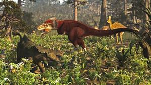 North America 76 Ma: Dinosaur Park Formation by PrehistoricArt