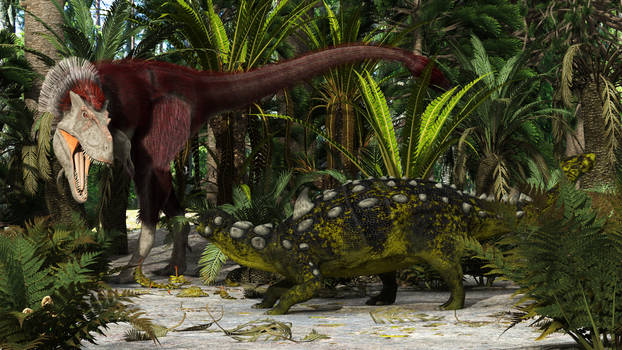 Gorgosaurus and Euoplocephalus