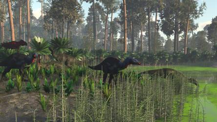 Camptosaurus and Torvosaurus
