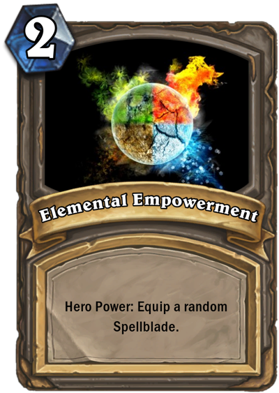 custom hearthstone cards mage knight hero power by