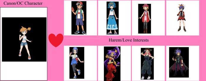 Misty's Harem (Couple ideas)