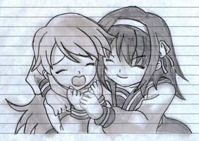 Haruhi and Mikuru by vesuvian-hydra