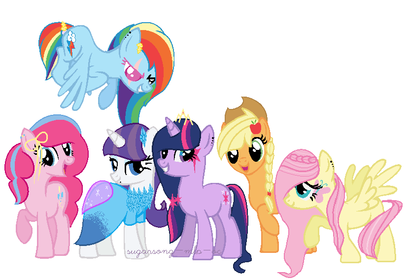 Boy Mlp Hairstyles: Mane 6 New Style - My Style