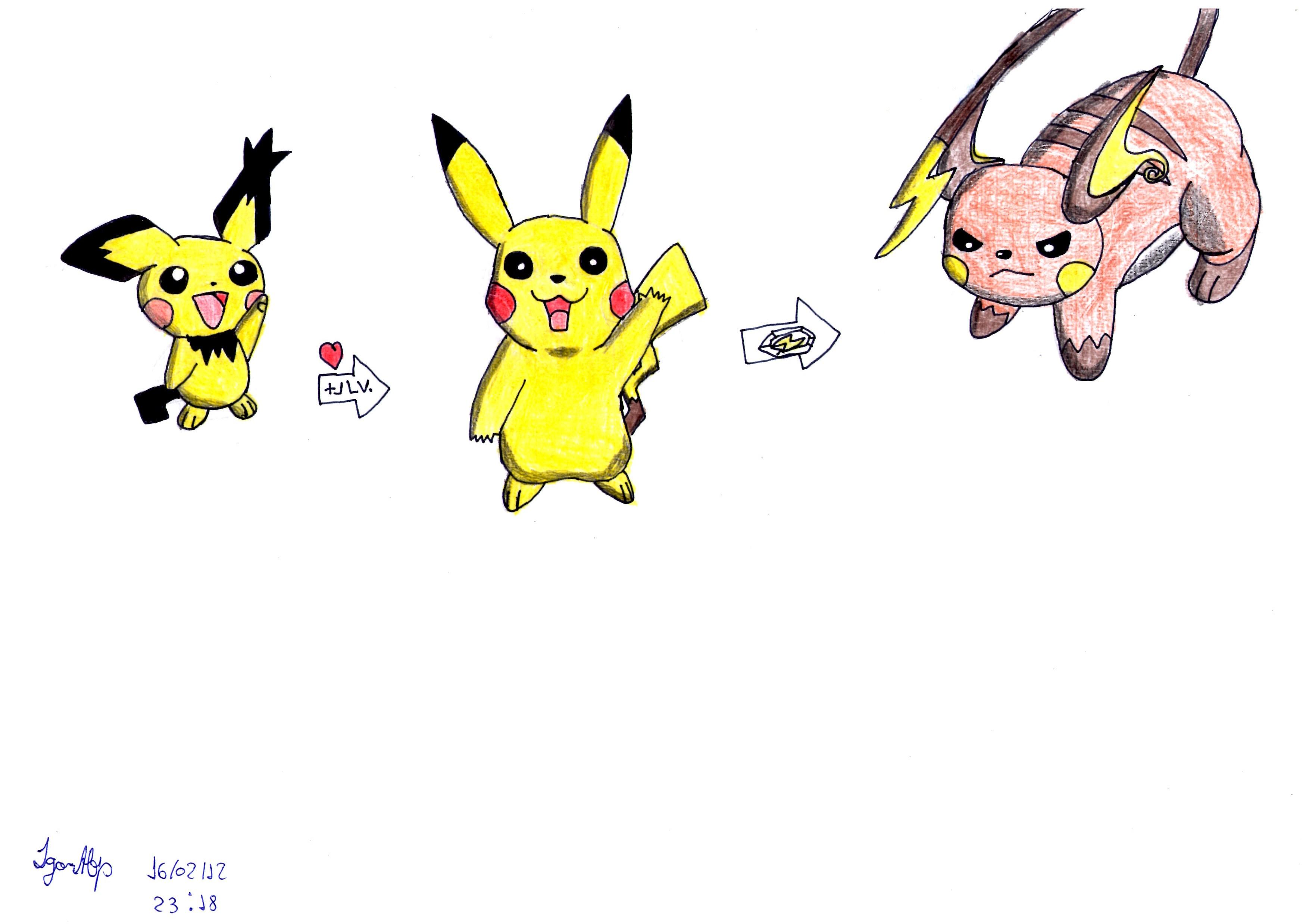 Pikachu evolutions by Pokecrz on DeviantArt