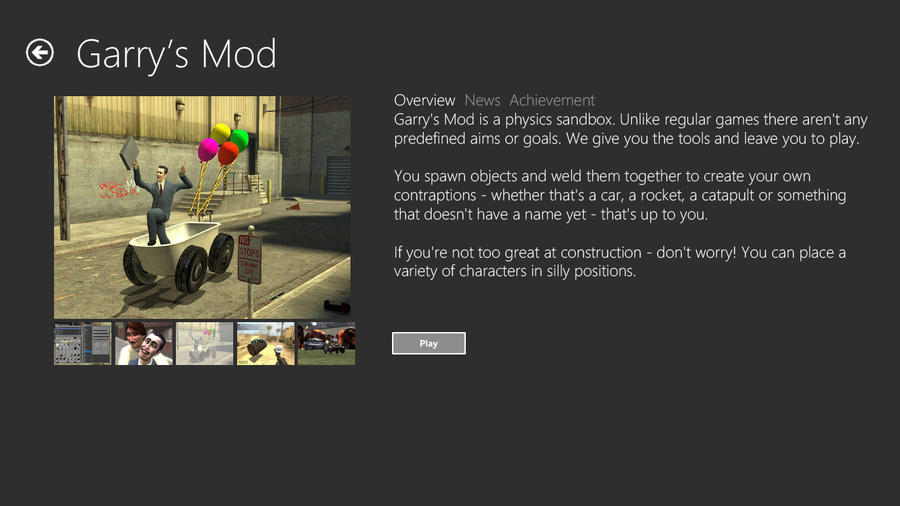 video games description