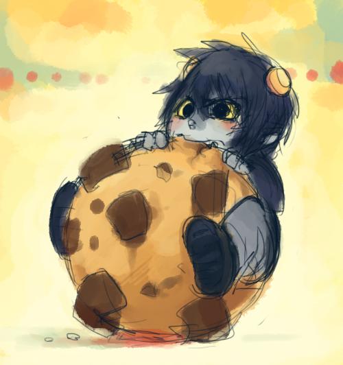 Karkat:Viciously Attack Cookie by Karkat-Vantas
