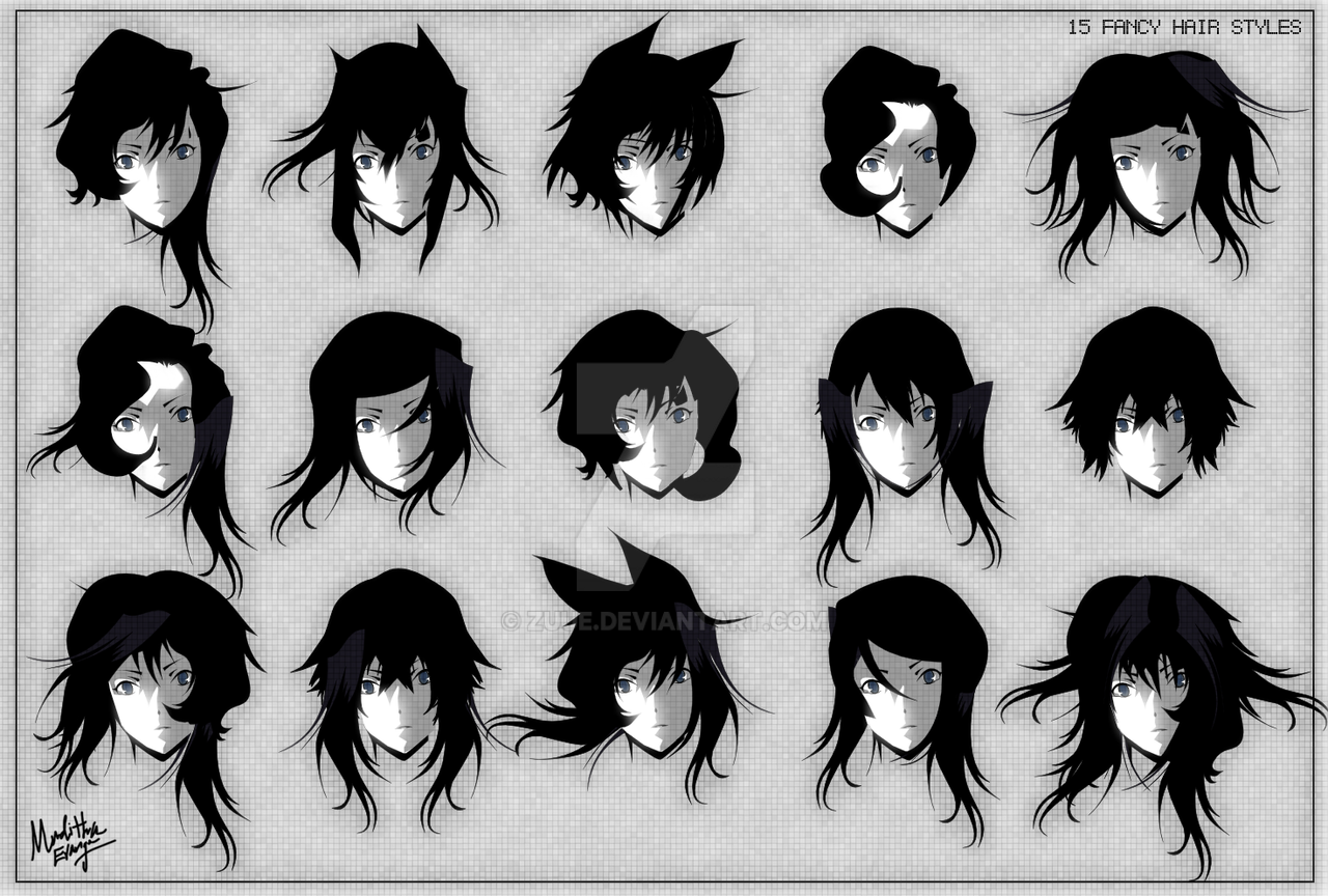 15 Fancy Anime Hair Styles By Zuue On Deviantart