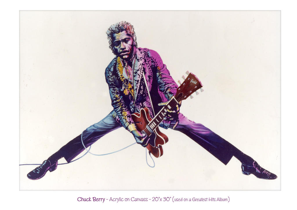 Chuck Berry Artwork for Greatest Hits Album Sleeve by DaveField