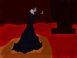 ArtTrade Taleea - Gaster on the cliff