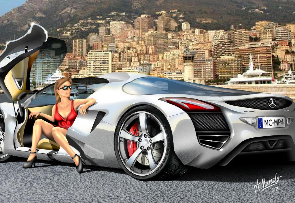 Mercedes Mclaren Mp4 In Monaco By Armandodesign On Deviantart
