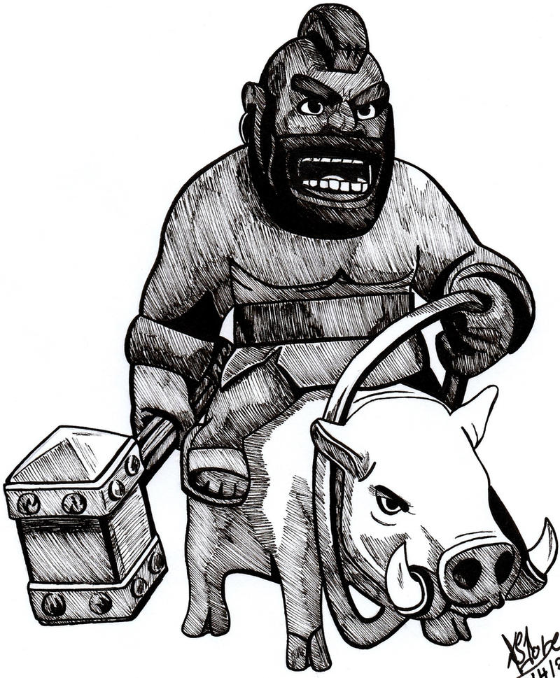 Hog Rider Clash Of Clans By DaegStone On DeviantArt