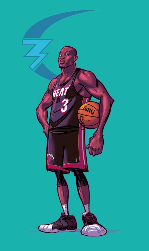 Dwayne Wade by kickstandkid78