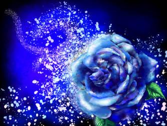 Blue Rose. by MiffArte