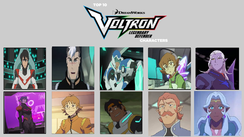 Top Ten Voltron Characters by MagicalAlchemist17 on DeviantArt