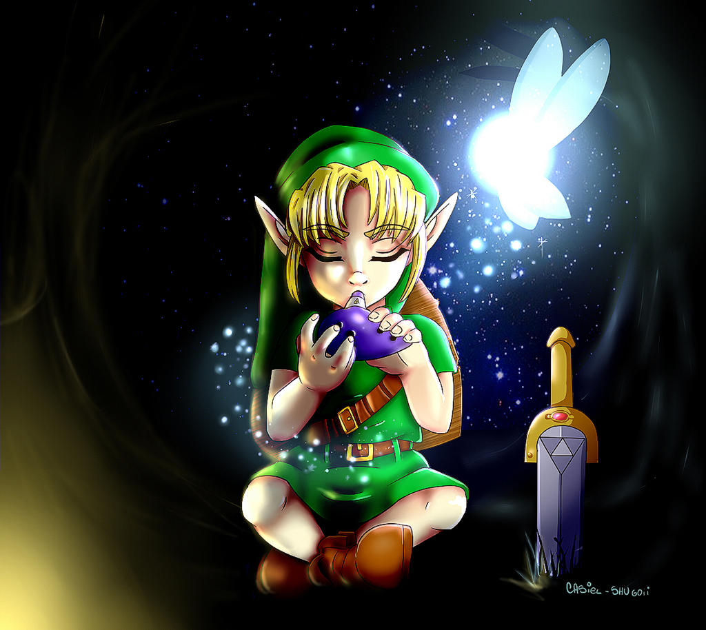 -Old Art- Link ocarina of time by AnaDarcy
