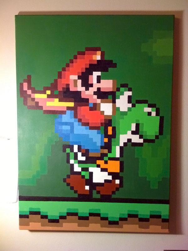Mario and Yoshi Pixel Painting by IvanDashSmith on DeviantArt
