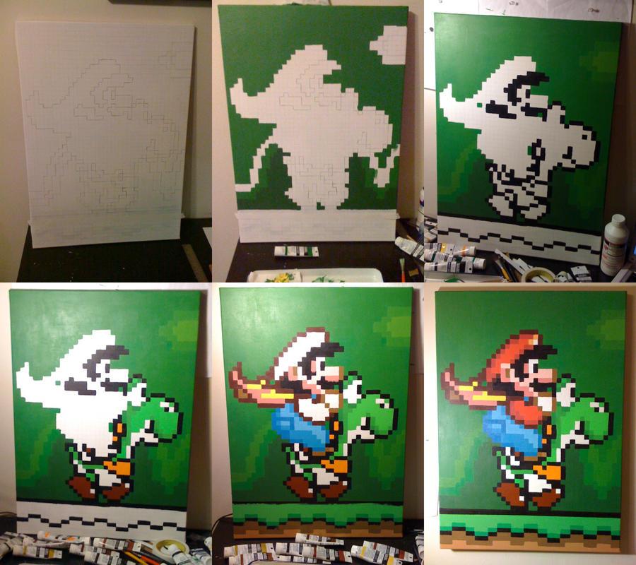 wip - Mario Pixel art painting by IvanDashSmith